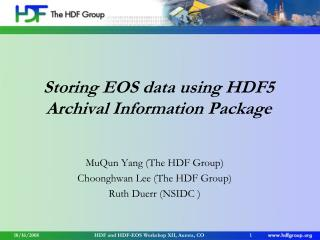 Storing EOS data using HDF5 Archival Information Package