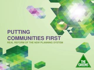 REAL REFORM OF THE NSW PLANNING SYSTEM