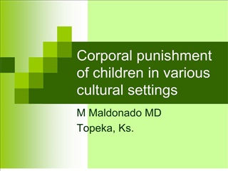 corporal punishment of children in various cultural settings