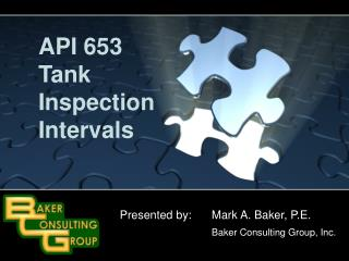 API 653  Tank  Inspection Intervals