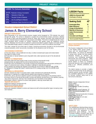 Houston Independent School District James A. Berry Elementary School