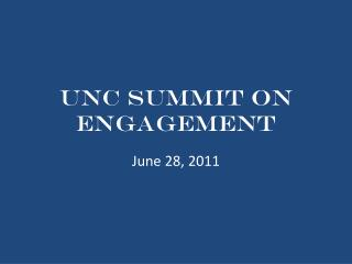 UNC Summit on Engagement