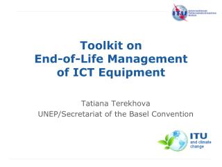 Toolkit  on  End-of-Life Management of ICT Equipment