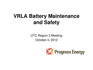 VRLA Battery Maintenance and Safety