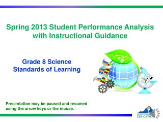 Spring  2013  Student Performance  Analysis with Instructional Guidance