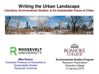Writing the Urban Landscape Literature, Environmental Studies, & the Sustainable Future of Cities