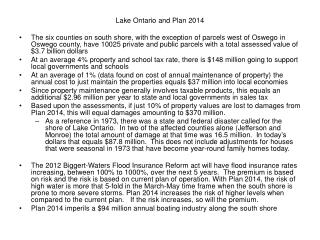 Lake Ontario and Plan 2014