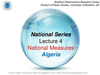 National Series Lecture 4  National Measures Algeria
