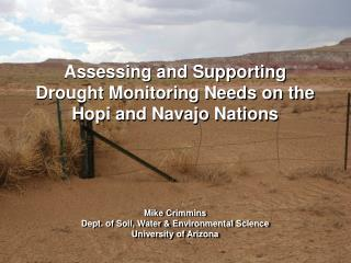 Assessing and Supporting Drought Monitoring Needs on the Hopi and Navajo Nations