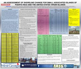 AN ASSESSSMENT OF SHORELINE CHANGE FOR SMALL ASSOCIATED ISLANDS OF PUERTO RICO AND THE UNITED STATES VIRGIN ISLANDS