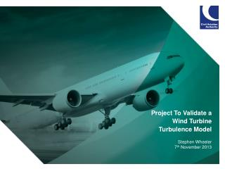 Project To Validate a Wind Turbine  Turbulence Model