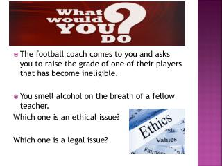 The football coach comes to you and asks you to raise the grade of one of their players that has become ineligible.