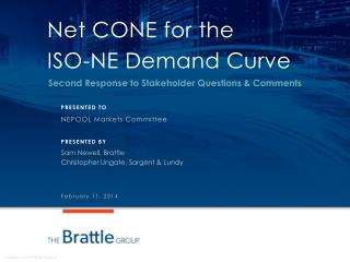 Net CONE for the  ISO-NE Demand Curve