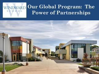Our Global Program:  The Power of Partnerships