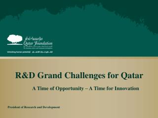 R&D  Grand Challenges for Qatar