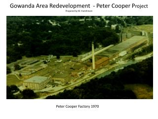 Gowanda Area Redevelopment - Peter Cooper P roject Prepared by M. Hutchinson
