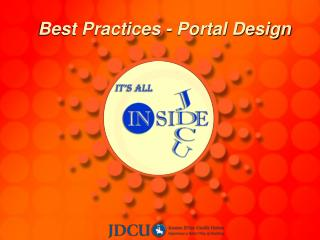 Best Practices - Portal Design