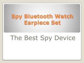 Spy Bluetooth Watch Earpiece Set