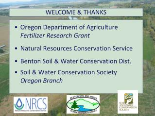 Oregon Department of Agriculture           Fertilizer Research Grant Natural Resources Conservation Service Benton Soil