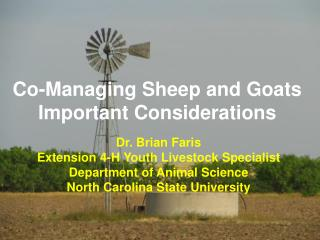 Co-Managing Sheep and Goats Important Considerations