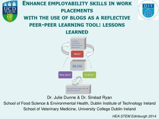 Enhance employability skills in work placements with the use of blogs as a reflective peer-peer learning tool: lessons