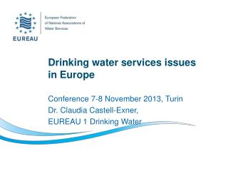 Drinking water services issues  in Europe