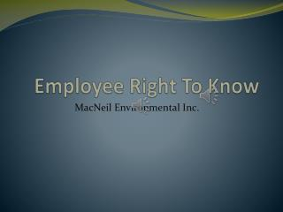 Employee Right To Know