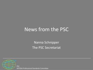News from the PSC