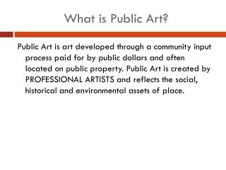 What is Public Art?