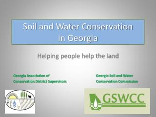 Soil and Water Conservation  in Georgia