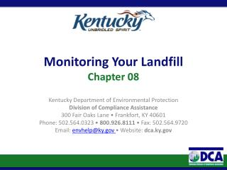Monitoring Your Landfill Chapter 08