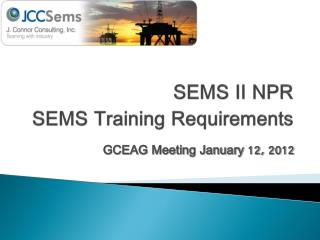 SEMS II NPR SEMS Training Requirements