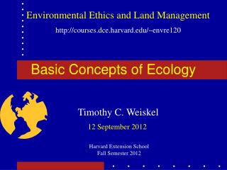 Basic Concepts of Ecology