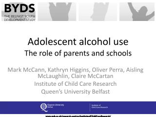 Adolescent alcohol use The role of parents and schools