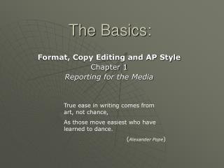 The Basics: