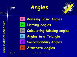 Revising Basic Angles