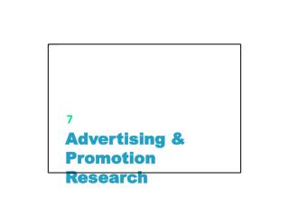 Advertising & Promotion Research