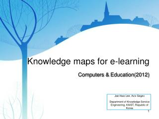 Knowledge maps for e-learning