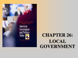 CHAPTER 26:  LOCAL GOVERNMENT