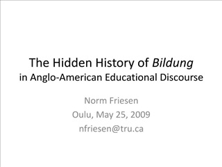 the hidden history of bildung in anglo-american educational ...