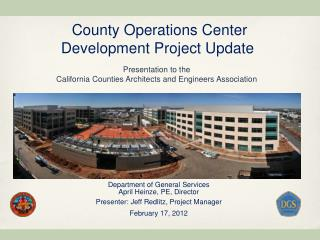 County Operations Center  Development Project Update