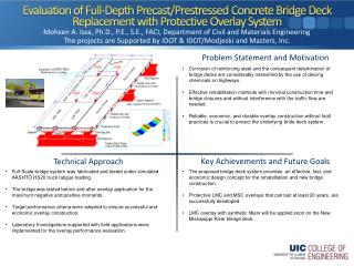Evaluation of Full-Depth Precast/ Prestressed  Concrete Bridge Deck Replacement with Protective Overlay System