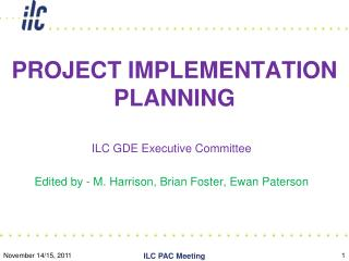 PROJECT IMPLEMENTATION PLANNING