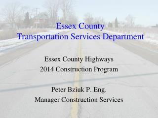 Essex County  Transportation Services Department
