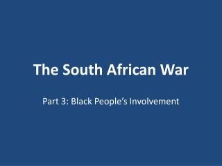 The South African War
