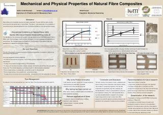 Mechanical and Physical Properties of  Natural  Fibre  Composites 	  Author:  Cindi  Sorensen            Contact:  CTS1