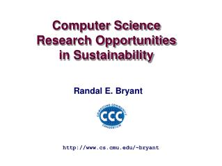 Computer Science Research Opportunities  in Sustainability