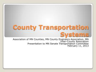 County Transportation Systems