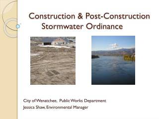 Construction & Post-Construction Stormwater Ordinance