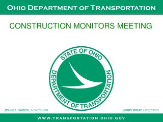 CONSTRUCTION MONITORS MEETING